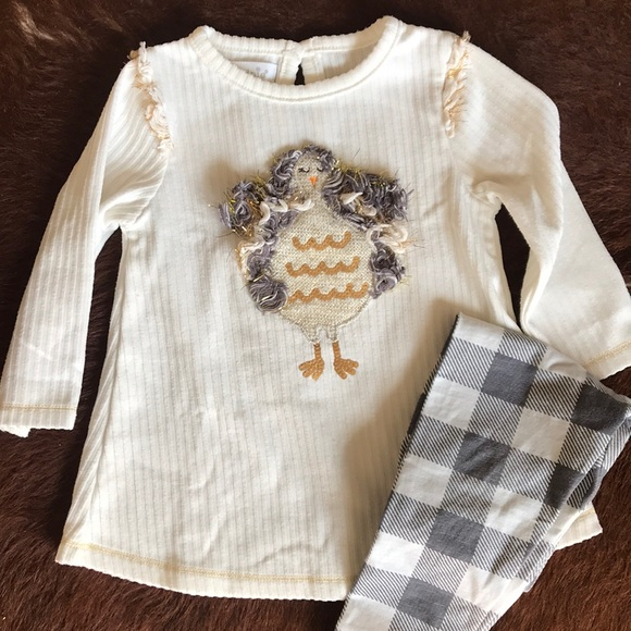 Size 4T and Matching Tote Mud Pie Sequin Tunic and Legging Set NWT